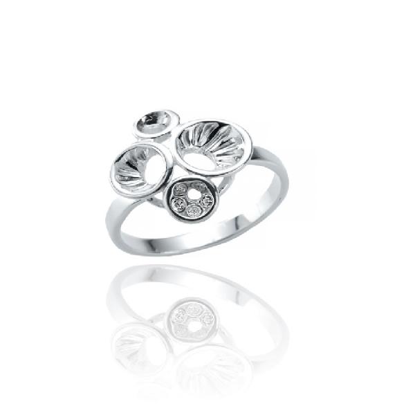 Pierścionek srebrny do kpl. 0687 Ar