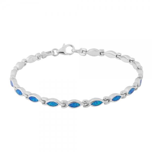 Bransoletka srebrna z niebieskim opalem 4031 Im