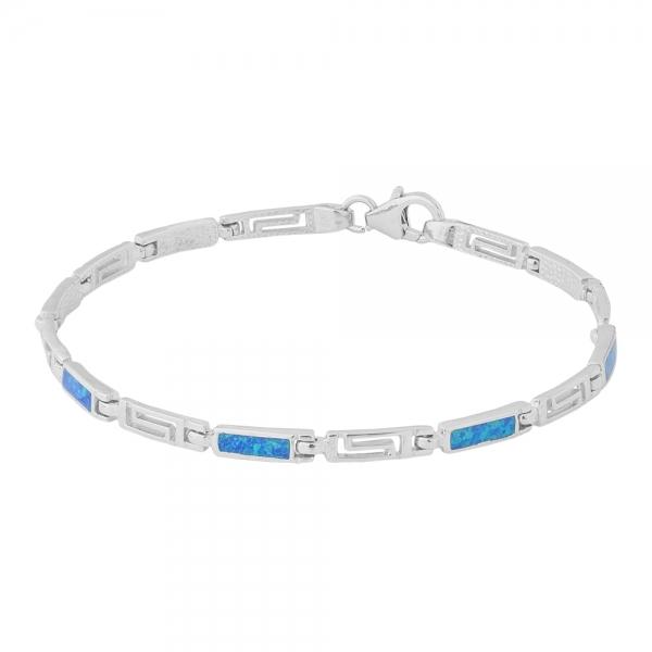 Bransoletka srebrna z niebieskim opalem 4028 Im