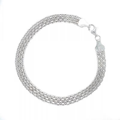Bransoletka srebrna Bismark B 276 Fp