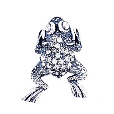Zawieszka żaba cyrkonie