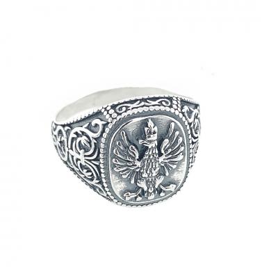 Sygnet srebrny z orłem PB 365 Pc