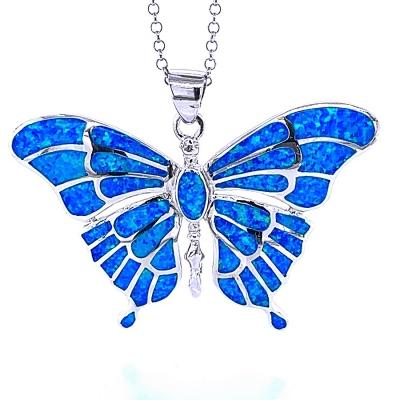Zawieszka motyl niebieski opal