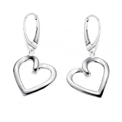 Kolczyki srebrne serce