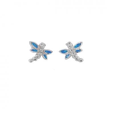 Kolczyki ważki z niebieskim opalem OE 822 Im