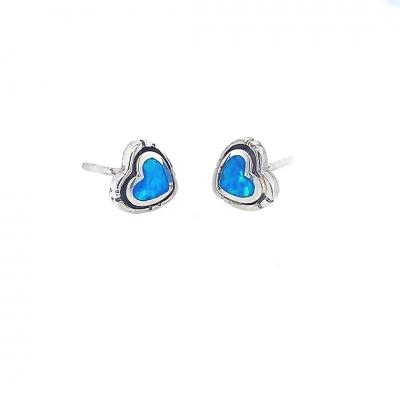 Kolczyki z niebieskim opalem OE 1430 Im