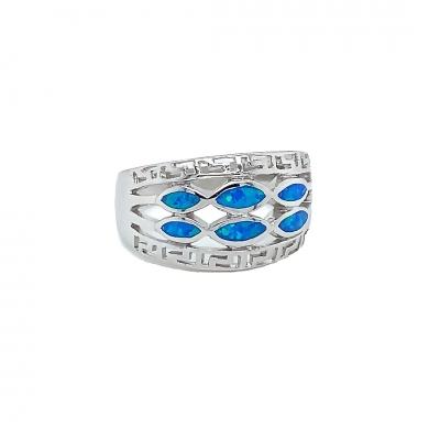 Pierścionek z niebieskim opalem OR 1070 Im