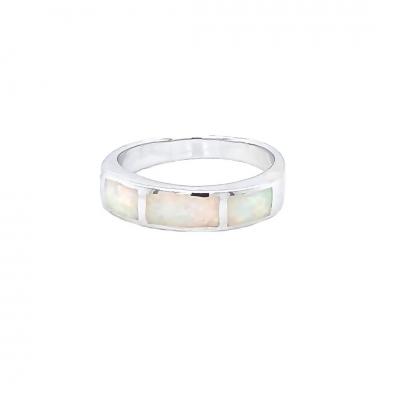 Pierścionek z białym opalem OR 1093 Im