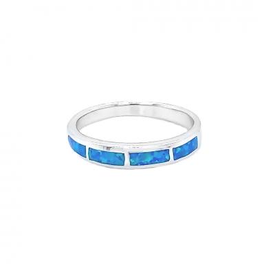 Pierścionek z niebieskim opalem OR 1117 Im