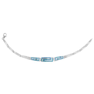 Bransoletka srebrna z niebieskim opalem 4029 Im