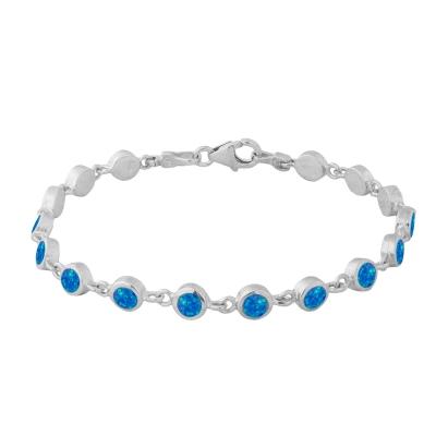 Bransoletka srebrna z niebieskim opalem 4030 Im