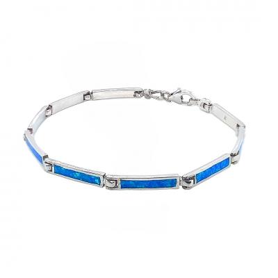 Bransoletka z niebieskim opalem