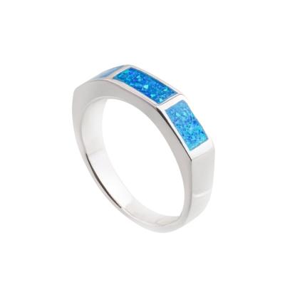 Pierścionek z niebieskim opalem OR 1093 Im